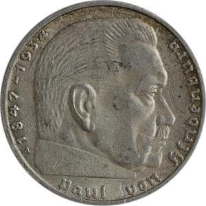 5 Reichsmark Hindenburg